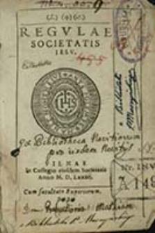 Regvlae Societatis Iesv