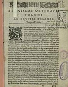 Stanislai Orichovii Poloni Turcicae duae
