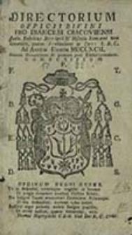 Ordo Officii Divini pro Dioecesi Cracoviensi Juxta Rubricas Breviarii et Missalis Romani tam Generales quam Particulares ac Decreta S.R. Congregationis ad Annum Domini ...