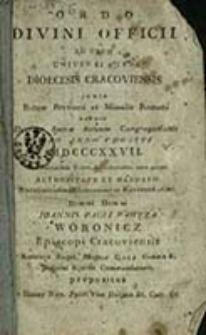 Ordo Offici Divini pro Dioecesi Cracoviensi Juxta Rubricas Breviarii & Missalis [...] / Andrea Rawa Gawroński