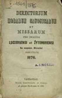 Directorium Officii Divini ac Missarum ad Usum Dioecesis Luceoriensis pro Anno Domini ...