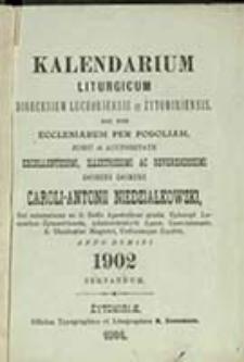 Kalendarium Liturgicum Dioecesium Luceoriensis et Żytomiriensis nec non Ecclesiarum per Podoliam [...] Anno Domini ... Servandum