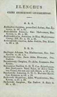 Elenchus Cleri Secularis Dioeceseos Luceoriensis et Żytomiriensis Ordine Alphabetico Confectus