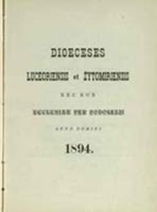 Dioeceses Luceoriensis et Żytomiriensis nec non Ecclesiae per Podoliam Anno ...