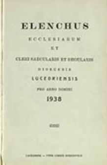 Elenchus Ecclesiarum et Venerabilis Cleri Saecularis et Regularis Dioecesis Luceoriensis pro Anno Domini ...