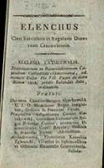 Elenchus Cleri Saecularis et Regularis Dioecesis Cracoviensis