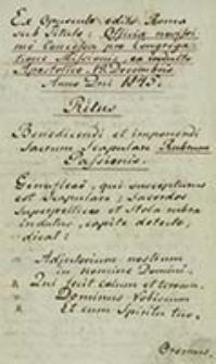 De privilegiis et indulgentiis Congregationi Missionis auctoritate Apostolica concessis, et confirmatis / [C. D. Sicardi]