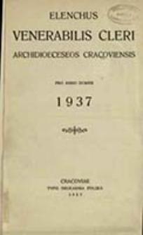 Elenchus Venerabilis Cleri tam Saecularis quam Regularis Dioeceseos Cracoviensis pro Anno Domini ...