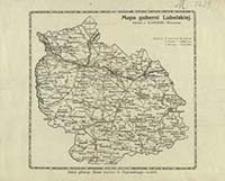 Mapa guberni Lubelskiej