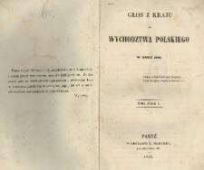 Głos z kraju do wychodztwa polskiego w roku 1846 / [Ludwik Czerniecki].
