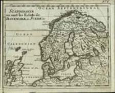 Scandinavie ou sont les Estats de Danemark de Suede &c