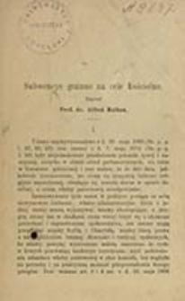 Subwencye gminne na cele kościelne / napisał Alfred Halban