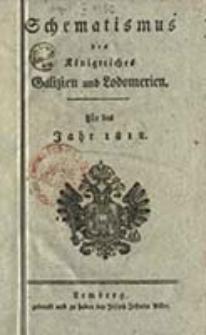 Schematismus für die Königreiche Galizien und Lodomerien : sammt einem Namen-Register : für das Jahr ...