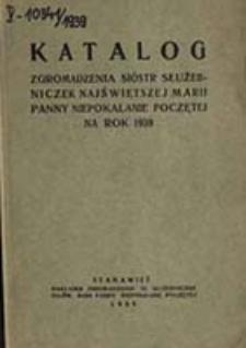 Katalog Zgromadzenia Sióstr Służebniczek Najświętszej Marji Panny Niepokalanie Poczętej na Rok ...