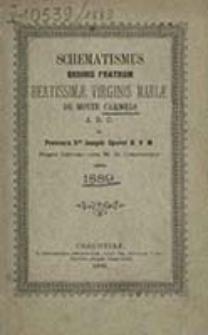 Schematismus Ordinis Fratrum Beatissimae Virginis Mariae de Monte Carmelo A. R. O. in Provincia Scti Josephi Sponsi B. M. V. Regni Galiciae cum M. D. Cracoviensi Anno ...