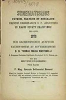 Schematismus Patrum, Fratrum et Monialium Ordinis Eremitarum S. P. Augustini in Magno Ducatu Cracoviensi pro Anno ...