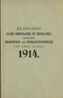 Elenchus Cleri Saecularis ac Regularis Dioecesis Seinensis seu Augustoviensis