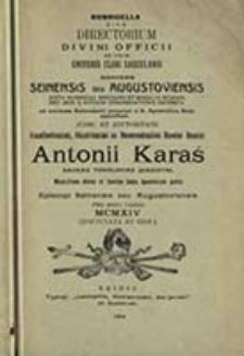 Ordo Divini Officii ad Usum Dioecesis Seinensis seu Augustoviensis pro Anno ...