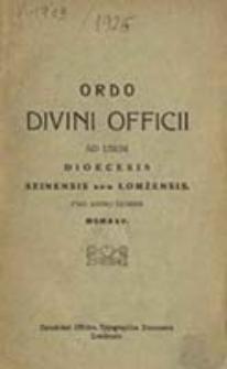 Ordo Divini Officii ad Usum Dioecesis Łomżensis pro Anno Domini ...
