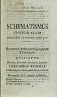 Schematismus Universi Cleri Dioeceseos Tynecensis