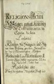 Schlesischer Religions-Akten Erster Theil …