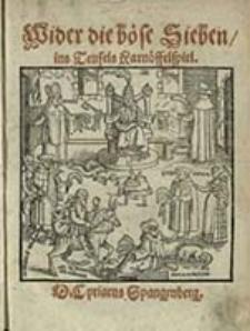 Wider die Böse Sieben, ins Teufels Karnöffelspiel / Cyriacus Spangenberg