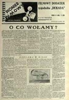 """Pionier Filmowy : filmowy dodatek do tygodnika """"Dekada"""" / red. i wyd. Wiktor Stanisławski"""