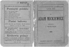 Adam Mickiewicz / oprac. J. Maciejowski.