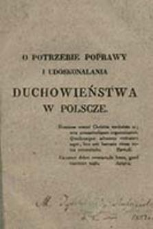 O potrzebie poprawy i udoskonalania duchowieństwa w Polscze