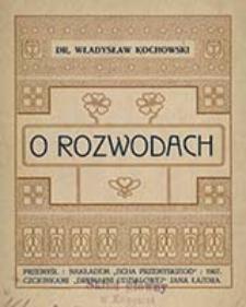 O rozwodach / Władysław Kochowski