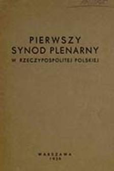 Pierwszy Synod Plenarny w Rzeczypospolitej Polskiej