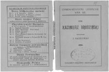 Kazimierz Brodziński / oprac. J. Maciejowski.
