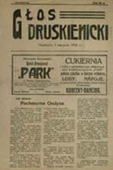 Głos Druskienicki : pismo tygodniowe / [red. odp. Paweł Matusiewicz]
