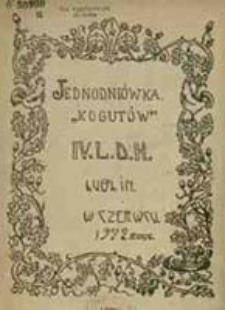 """Jednodniówka """"Kogutów"""" IV L.D.H. Lublin"""