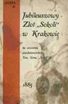 """Jednodniówka """"Sokola"""" : 1885-1935 / wyd. Komitet T.G. """"Sokół"""" I ; protektorowie: Mikołaj Kwaśniewski [et al.]"""