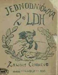 Jednodniówka 2ej LDH imienia Zawiszy Czarnego / [red. odpowiedzialny A. Krzyżanowski]