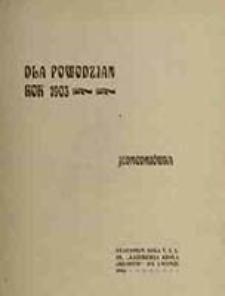 Dla powodzian rok 1903 : jednodniówka
