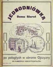 Jednodniówka Domu Sierot po poległych w obronie ojczyzny na rubieżach Rzeczypospolitej