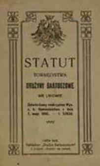 Statut Towarzystwa Drużyny Bartoszowe we Lwowie : Zatwierdzony reskryptem Wys. c. k. Namiestnictwa z dnia 7 maja 1908 - l. 57632