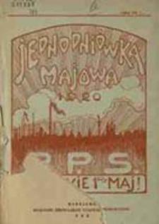 Jednodniówka majowa : 1 maj 1920 r.