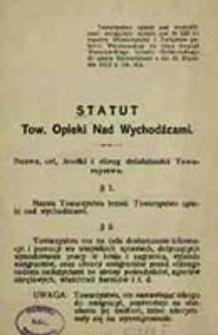 Statut Tow. Opieki nad Wychodźcami