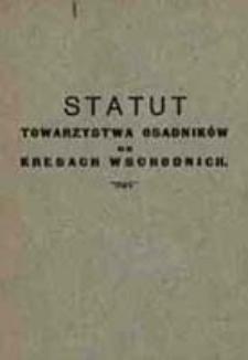 Statut Towarzystwa Osadników na Kresach Wschodnich
