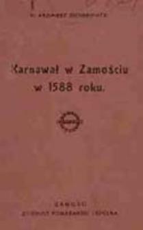 Karnawał w Zamościu w 1588 roku / Kazimierz Sochaniewicz