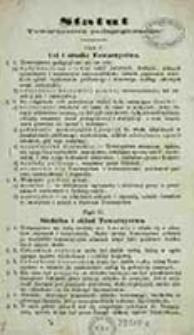 Statut Towarzystwa Pedagogicznego