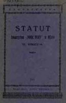 """Statut Towarzystwa """"Pomoc Pracy"""""""