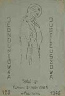 Jednodniówka jubileuszowa Sodalicji Panien Urzędniczek w Poznaniu : 1920-1945