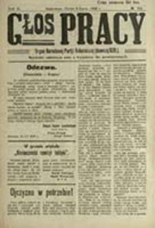 Głos Pracy : organ Narodowego Związku Robotniczego / [red. Apolonjusz Basiński]