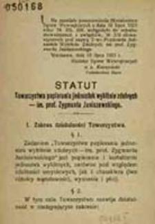 Statut Towarzystwa Popierania Jednostek Wybitnie Zdolnych im. prof. Zygmunta Janiszewskiego