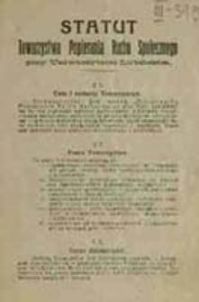 Statut Towarzystwa Popierania Ruchu Społecznego przy Uniwersytecie Lubelskim