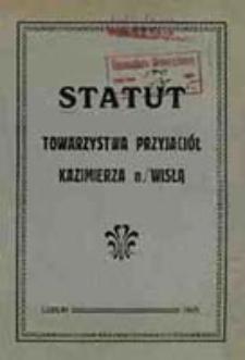 Statut Towarzystwa Przyjaciół Kazimierza n/Wisłą